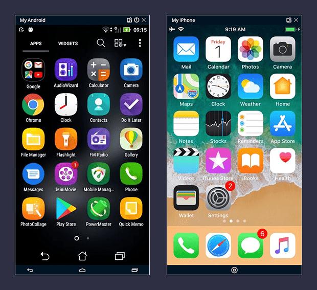 Mobile screen mirroring - TestProject